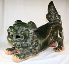 Large Glazed Pottery Oriental Fudog Sculpture