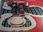 4 PLACE SETTING CLOVERLEAF TABLE COVER SEWING CRAFT PATTERN