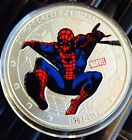 SPIDERMAN COIN Clad Finished in Silver .999 Collectors Kids Token Medal 1oz ��
