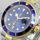 ROLEX SUBMARINER STEEL 18K YELLOW GOLD TWO TONE BLUE DIAL 16613