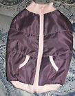 Medium Yorkie Chihuahua Purple sleeveless Winter Spring Jacket Coat Vest
