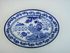 Nantucket Stoneware Platter Cobalt Blue & White With Rooster Pattern 14