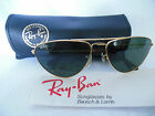 VINTAGE RAY BAN B&L SUNGLASSES GOLD WIRE FRAME AVIATORS USA 58mm NEW OLD STOCK
