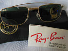 VINTAGE RAY BAN B&L SUNGLASSES GOLD FRAME AVIATORS W1756 USA 50mm NEW OLD STOCK