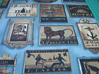 3 Yards Quilt Cotton Fabric - Windham Tavern Signs Blue