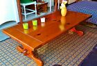 Ethan Allen Antiqued Pine Trestle Cocktail Table/Coffee Table,Old Tavern - RARE!
