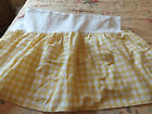 Vintage Gingham check Bed skirt TWIN Bedding French Country Shabby Cottage PLAID