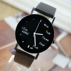 Black English concise new men's and women's fashion lovers watch