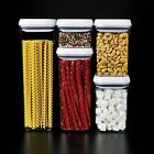 5 Piece Container Set Canister Storage Pasta Nuts Cereal Food Candy Sugar Spices