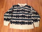 EQUADOR  100% WOOL THICK CARDIGAN SWEATER  with measurements