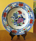 Superb Antique Early Mason's Ironstone Polychrome Soup Plate Blue Pheasants 1813