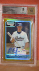 2006 Bowman Draft Chad Huffman Autographed Gold Refractor Card BGS 9 Auto 10.