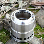 Ultralight Portable Wood Burning Outdoor Camping Picnic Stove Stainless Steel