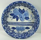 Shard Pottery Dover Foxcroft, Maine Sponge Ware Pie Plate Blue & White Flowers