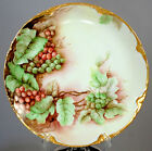 Vintage Edwardian Bavarian Porcelain Hand Painted  J And C Grape Plate