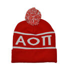 Alpha Omicron Pi aoii Knit Beanie Pom Winter Hat