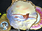 LIMOGES FRANCE FLAMBEAU BIRD IN FLIGHT PLATE CHARGER HANDPAINTED ARTIST SIGNED