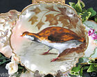 LIMOGES FRANCE BIRD PLATE CHARGER HANDPAINTED ARTIST SIGNED charger