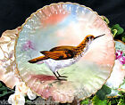 LIMOGES FRANCE BIRD  PLATE CHARGER HANDPAINTED ARTIST SIGNED