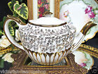 GIBSONS MADE IN ENGLAND TEAPOT GOLD GILT FLORAL DESIGN