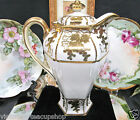NIPPON BEADED GOLD GILT HAND PAINTED LARGE TEAPOT COFFEE POT