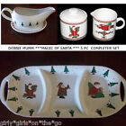 Debbie Mumm ***MAGIC OF SANTA*** Divided Platter/Sugar Bowl/Creamer/Gravy Boat