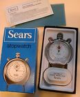 VINTAGE SEARS STOPWATCH Chrome NRFB Shock Resistant Swiss Made  WOW