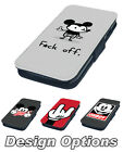Mickey Mouse Rude and Funny Printed Faux Leather Flip Phone Cover Case