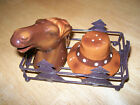 New Cracker Barrel Horse and cowboy hat salt and pepper shakers