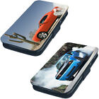 Dodge Challenger Burnouts Printed Faux Leather Flip Phone Cover Case