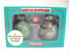 Touching Turtles Collectible Salt and Pepper Shaker Set Magnetic Kissing NEW