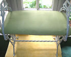 Vtg 1920s-30s Art Deco Cast&Wrought Iron White Lime Green Padded Seat Bench-EUC