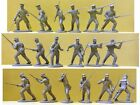 Plastic Toy Soldiers Civil War 9 Confederate Militia Expeditionary Force 1/32