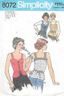 8072 VINTAGE CORSET STYLE TOP Pattern Sz 6-8  VIEW 1-2 ONLY Simplicity
