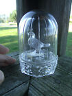 ECHT BLEIKRISTALL CUT FROSTED BIRD 24% CRYSTAL W. GERMANY Paperweight