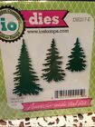 Impression Obsession EVERGREEN TREES metal die set of 3 Christmas fir