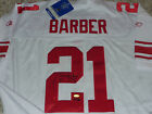 TIKI BARBER STAT SIGNED AUTHENTIC REEBOK NEW YORK GIANTS LE JERSEY STEINER COA