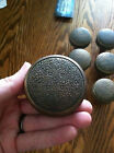 antique bronze door knobs - ornate floral - set of 6, no spindles, just knobs