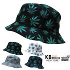 Bucket Hat Boonie MARIJUANA Hunting Fishing Outdoor Cap Unisex 100% Cotton NEW