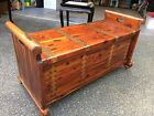 Beautiful Acme Mid Century Red Cedar Chest Trunk W /Copper Nailed Strapping W@W