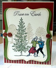 Handmade Card Kit Winter Post Couple Kit makes 4 complete cards
