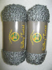 Lot of  2 skeins of Lion Brand Silky Twist, the color is Ash Mist