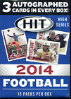 2014 Sage HIT Football ( High Series) - 3 auto cards per box!! NEW Sealed