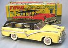 Vintage Tin Friction 1956 Ford Station Wagon with Box -- Cragstan - Japan