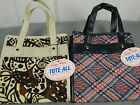 2 Vintage Lady's Pride Tote-All Mod Retro Small Shopper Bags with Tags