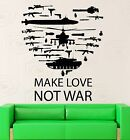 Wall Stickers Make Love Not War Pacifism Peace Vinyl Decal ig2484
