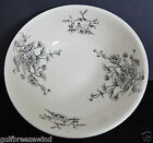 Wedgwood LOUISE PATTERN, Black Transfer-ware Wash Basin, Floral, Sail Boat