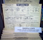 1933 Ford EIGHT Series Standard & DeLuxe 40 Models AEA Tune Up Chart LAMINATED