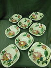 Vintage RED WING Hand Painted BOWL DISHES Set of 8 VERY NICE 5