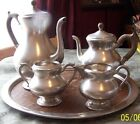 ROYAL HOLLAND PEWTER SEVEN PIECE (7) TEA/COFFEE SERVING SET